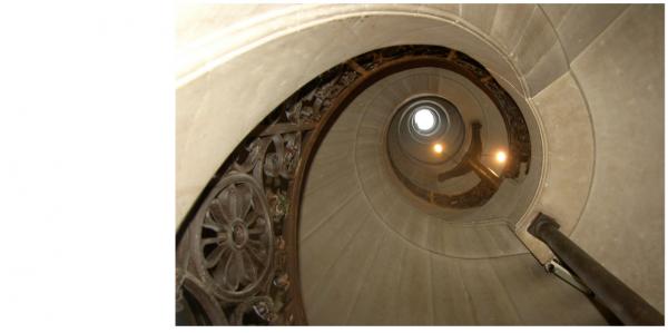 98b Escalier en vis nord.