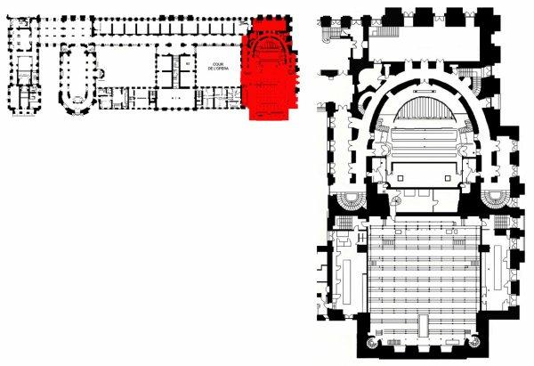 Rez de chaussée - Aile nord - 100 Salle de spectacles.