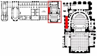 Rez de chaussée - Aile nord - 126 Vestibule sud de la salle de spectacle