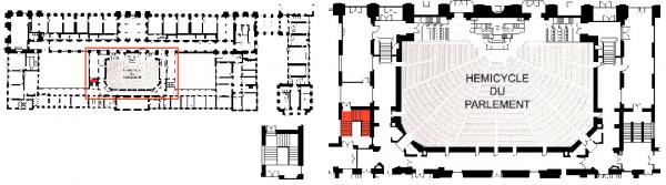 Rez de chaussée - Aile midi - 186 Escalier de la salle des congrès