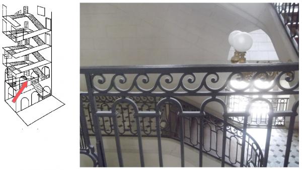 Rez de chaussée - Aile midi - 107 Escalie de Provence.