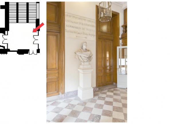Rez de chaussée - Aile midi - 193 Escalier de la commission.