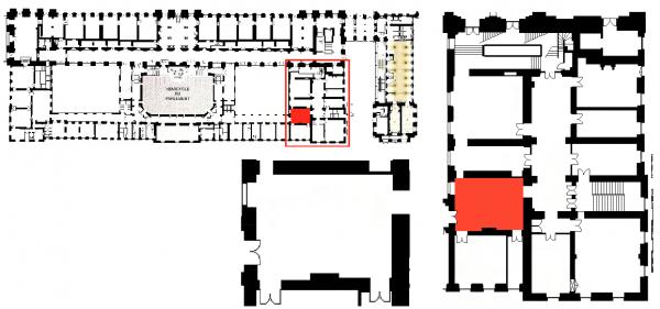 Rez de chaussée - Aile midi - 202 Self service et comptoir-caisse