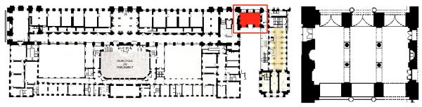 Rez de chaussée - Aile midi -  226 Passage des princes