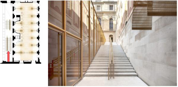 Rez de jardin - Aile du midi- 236 - Escalier cour des princes