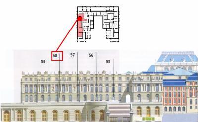 Rez de jardin - Aile centrale - Appartement de la  dauphine - 58 Chambre à coucher