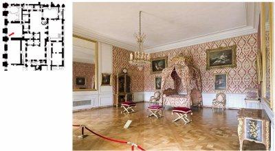Rez de jardin - Aile centrale - Appartement de la  dauphine - 58 Chambre à coucher.