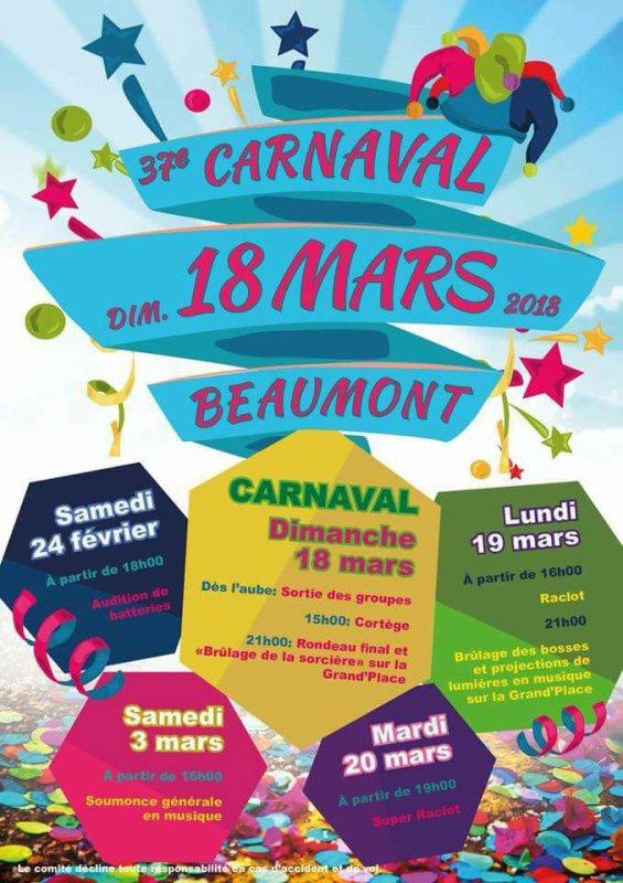 demain et  lundi je seait absent  je serait au carnaval de Beaumont