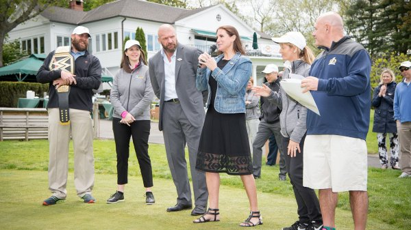 Stephanie McMahon and Triple H at the Hedge Invitational.