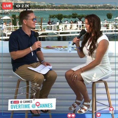 mes conversations de Cannes Lions à partir de la plage de Facebook avec Bob Gruters