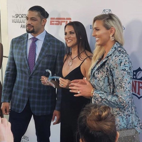 ESPN for the honor of WWE the League Humanitarian Leadership award!