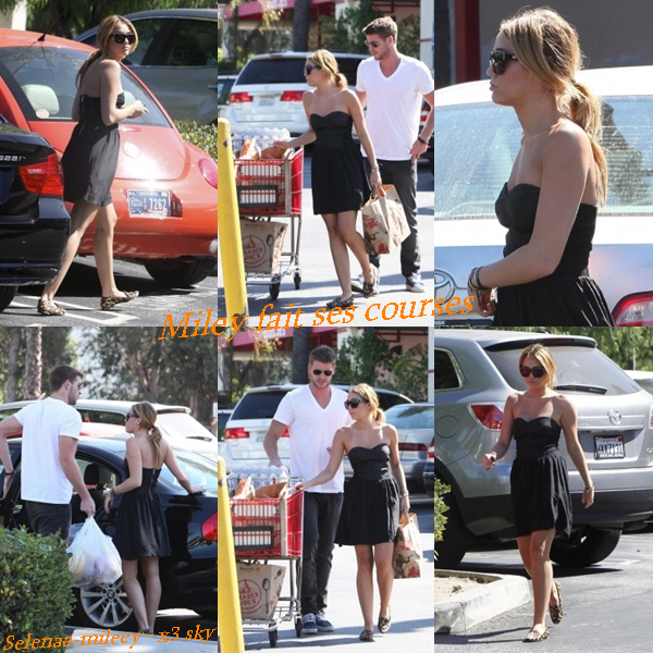 30/08/2011 : Miley & Liam ont été faire quelques courses chez Trader Joe's à Los Angeles.