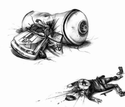 moi je graff que sur papier bien sur o et jai trouver sur un blog se dessin mega cool il decrit bien la penser du graffeur qui se fait courser a 3h - Dessin Graffiti
