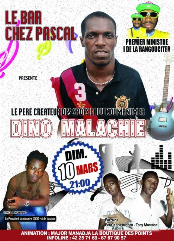 LE CHEF D'ÉTAT MAJOR BOIGNY Dino Malachie, en SPECTACLE INÉDIT, le DIMANCHE 10 MARS 2013