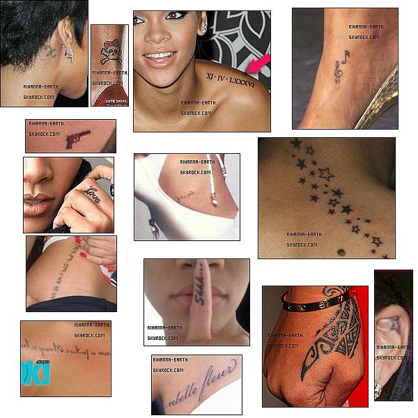 Rihanna et ses tatouages, une histoire d'amour ♥