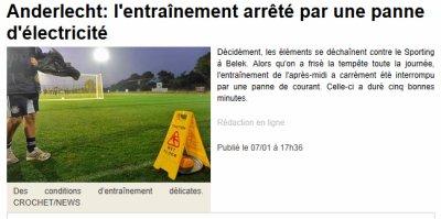 Belek: Anderlecht victime du couvre feu !