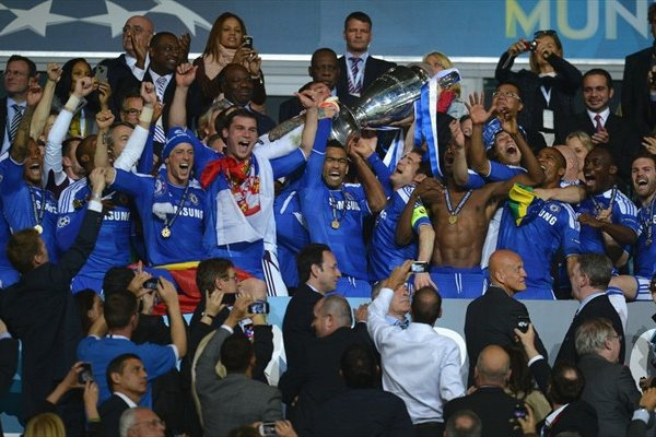 Chelsea wins the Champion's League :) Amazing  <3