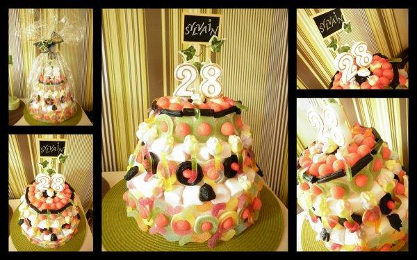 Voici une photo du Gâteau Apero que j'ai fait pour ma copine   ;)  et Gâteau de bonbon fait pour l'Anniversaire d'un ami !!!