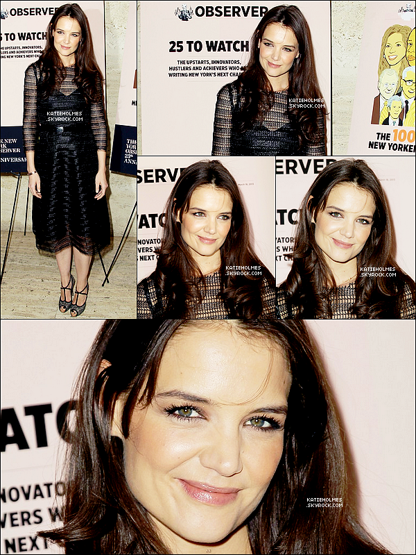 14.03.2013 - Katie était à la 'The New York Observer 25th Anniversary Party' au Four Seasons  à New York.