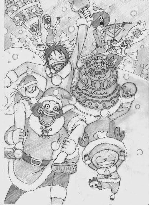 Dessin One Piece spécial Noël