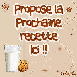 ๑ Prochaine recette ★