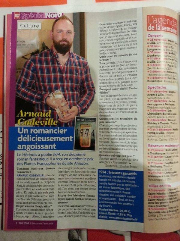 Interview d'Arnaud Codeville par Telestar spécial Nord