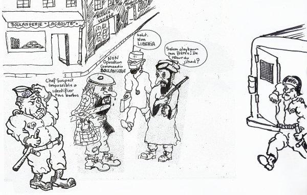 REPERAGE DIFFICILE DES TERRORISTES