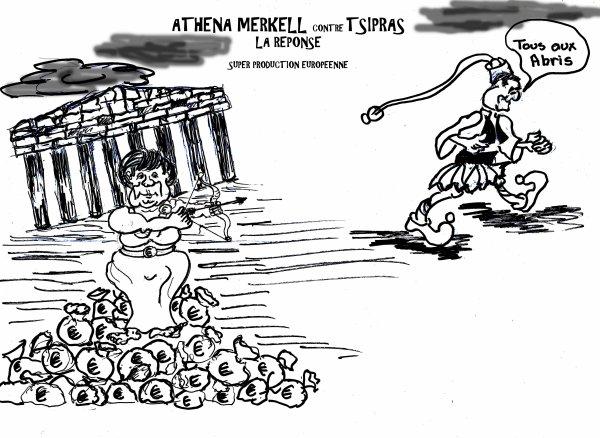 *PEBLUM    ATHENA MERKELL contre TSIPRAS  Super Production Européenne