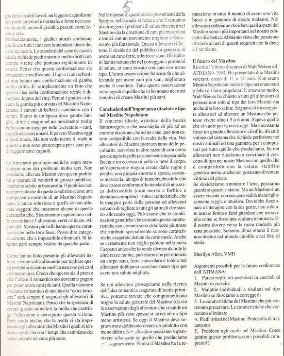 RAPPORT  évolution Matin de Naples Octobre 1998