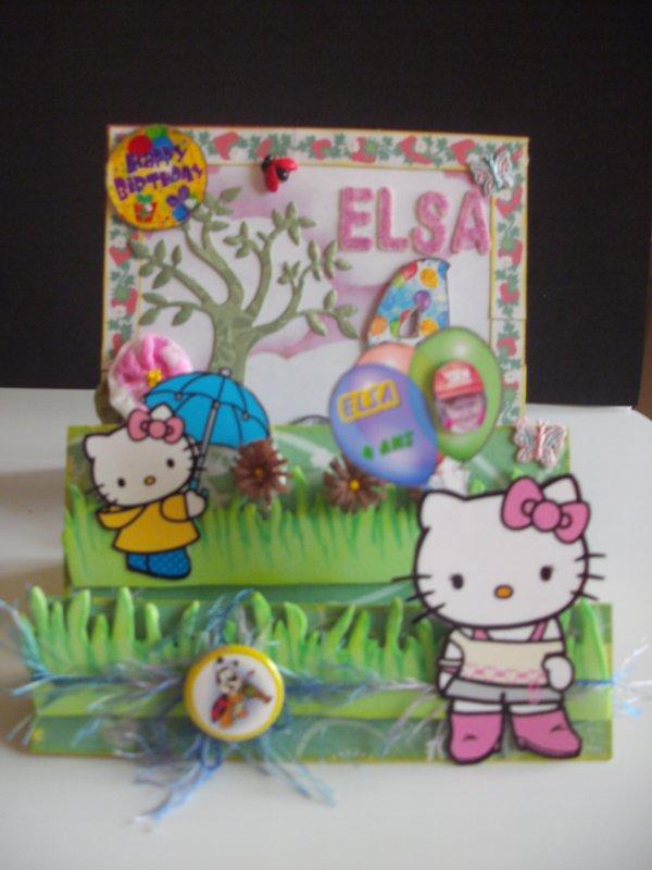les 4 ans de ma petite fille Elsa le 25 mars 2012
