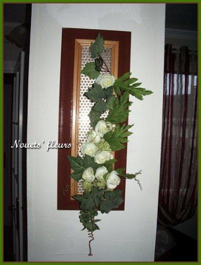 ref:0234                                                 cadre bois fleuri