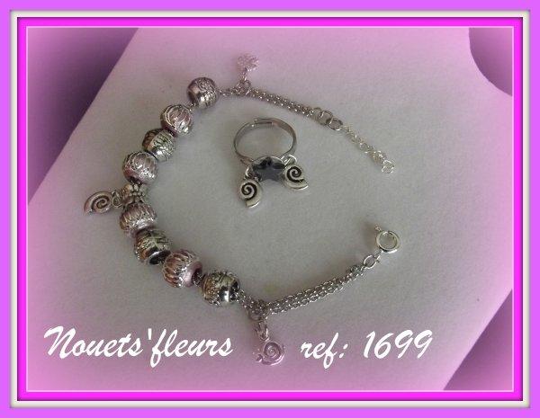 ref: 1699 bracelet et bague pour Coralie