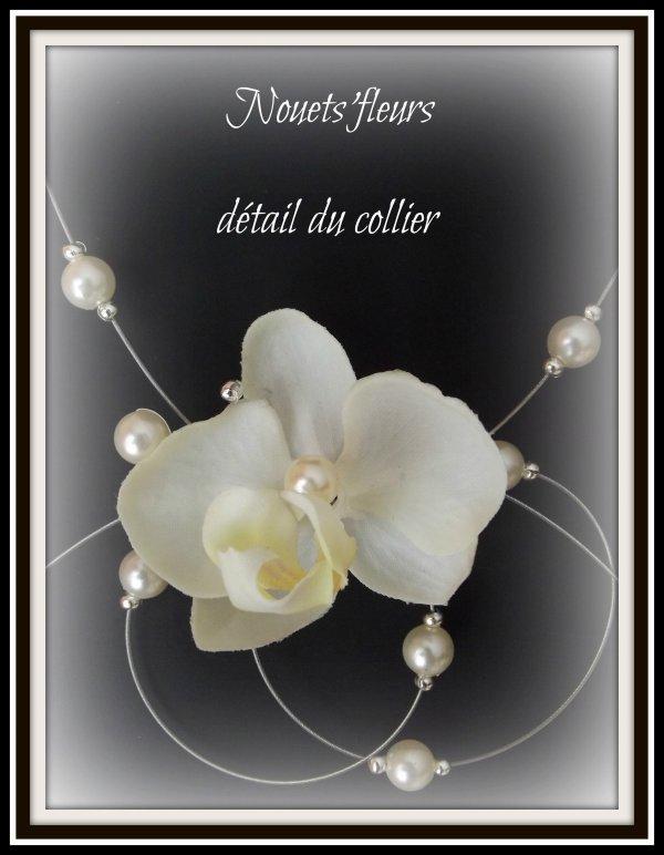 ref: 2613 collier de mariée perles nacrées