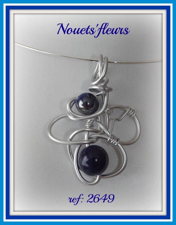 pendentif perle bleue