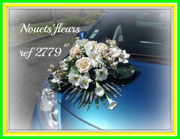 bouquet, bijou de cheveu , décoration de capot de voiture , boutonnière bijou simple et avec plume