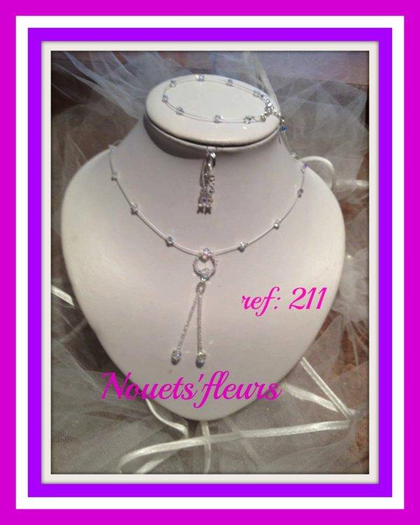 Ref: 211  Parure de bijoux pour la mariée
