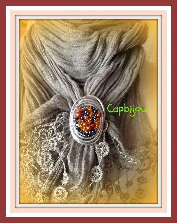 ref:  Bague ou bijou de foulard ref: 8