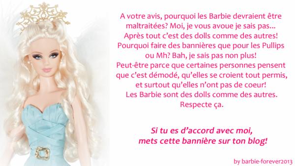 je suis d'accord avec barbie-forever2013 (même si je ne collectionne pas les barbie)