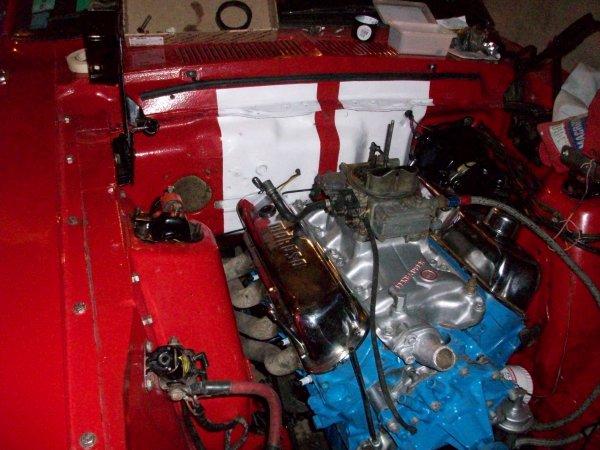 Montage du moteur, peinture et le greffer sur la boite