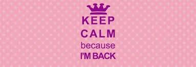Je suis de retour !!!!