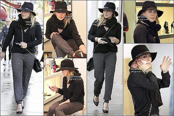*09/03/13 : La famille allant à une fête d'anniversaire chez des amis (Studio City).J'adore sa tenue sans l'écharpe! Son pantalon est joli. + Le 08/03, Hil est allée chez Martin Katz à Beverly Hills.*