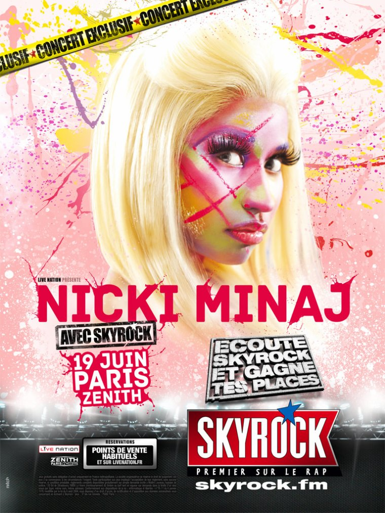 Nicki Minaj avec Skyrock