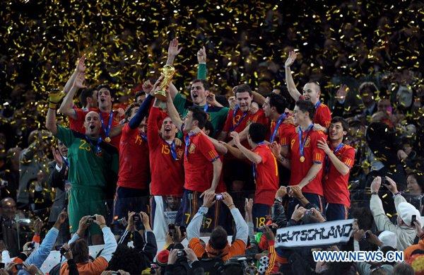 Espana champion du monde 2010.