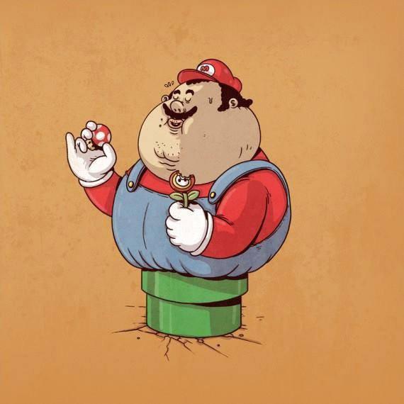 mario obèse