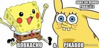 et si on mélanger pikachu et bob l'eponge