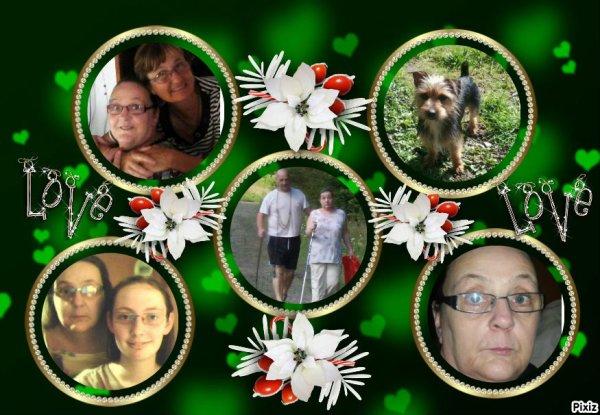 voici d'autre montage  de moi de mon mari de ma fille et de ma chienne ext...
