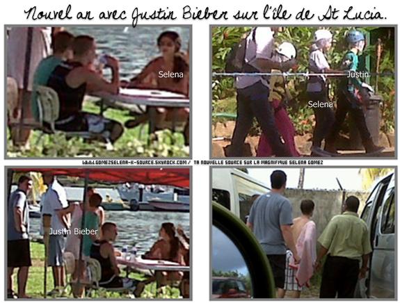Selena et Justin Bieber sur l'île de St Lucia (Antilles) accompagnés de Scooter Braun, Ryan Butler et la cousine de Selena. Je vous rappelle que c'est la deuxième année qu'ils passent le nouvel an ensemble. + Scan du magazine Sugar. Qu'en penses-tu ?