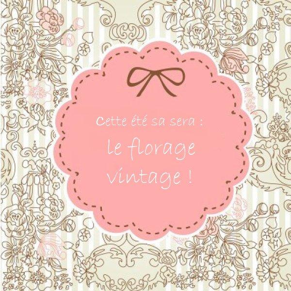 La mode pour cette été sera : Le florage vintage ♥