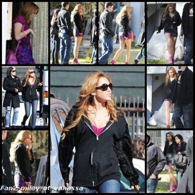 Découvrez les premières photos de Miley Cyrus sur le tournage du film So Undercover ce lundi 13 décembre 2010.