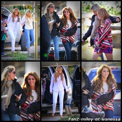 Le tournage du film So Undercover continue et voici des photos de ce mardi 14 décembre 2010. Comme vous pouvez le voir, Tish la mère de Miley était présente  sur le tournage.